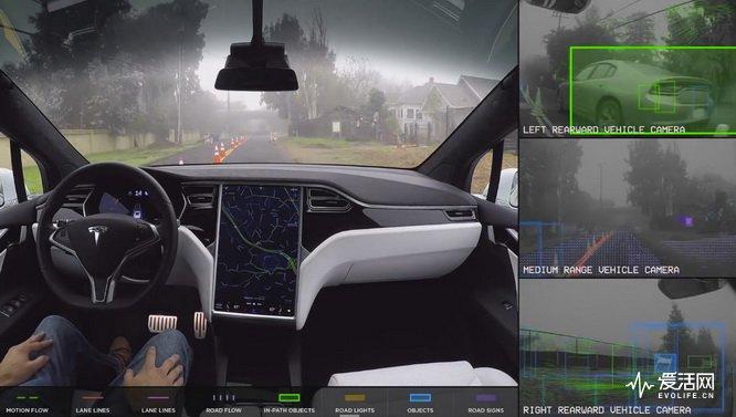 Tesla-autonomous-self-driving-vision-sensors