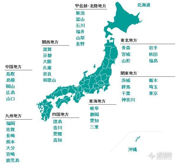 在日本范围
