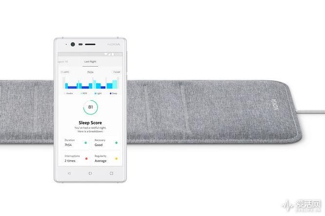 诺基亚睡眠监测仪Sleep与Health Mate应用程序