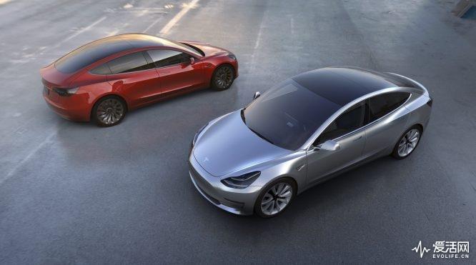 Tesla-Model-3-wallpaper-red-silver