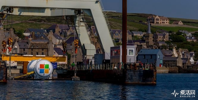 Microsoft's Project Natick  at the launch site in the city of Stromness on Orkney Island, Scotland on Sunday May 27, 2018. (Photography by Scott Eklund/Red Box Pictures)