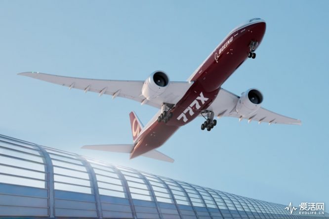 777-9X; K66137-01; Take off; landing with fence; wheels down; underneath from right side