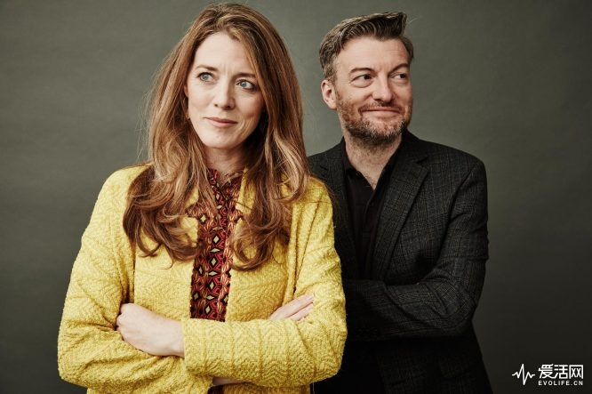 BEVERLY HILLS, CA - JULY 27:  (EDITORS NOTE: This image has been digitally altered) Actors Annabel Jones and Charlie Brooker from Netflix's 'Black Mirror' pose for a portrait during the 2016 Television Critics Association Summer Tour at The Beverly Hilton Hotel on July 27, 2016 in Beverly Hills, California.  (Photo by Maarten de Boer/Getty Images)