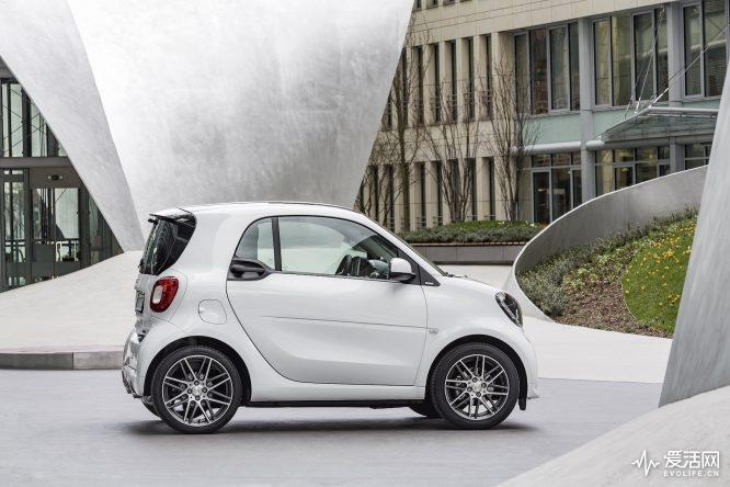 smart BRABUS fortwo coupé, 2016, white