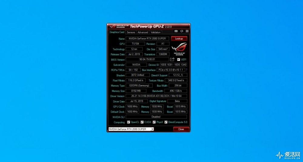 GPU-Z 2080 SUPER