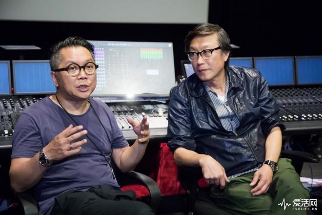 当科学遇上艺术《中国机长》篇_OneCool制作总监Bobbie Wong(左)与导演刘伟强现场分享