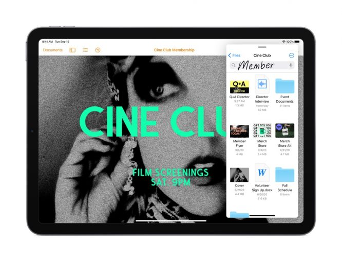 iPad Air_iPadOS 14_Scribble